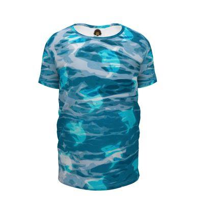 Girls Premium T-Shirt - Shark Ocean Abstract