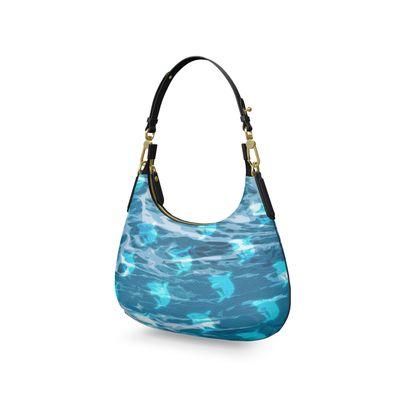 Mini Curve Bag - Shark Ocean Abstract