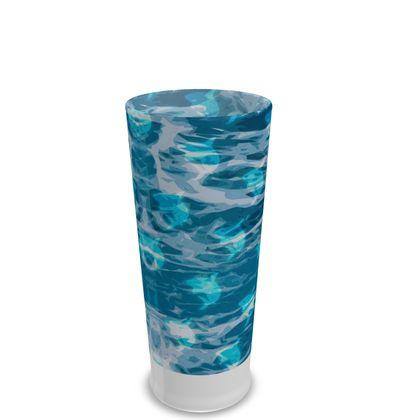 Pint Glass - Shark Ocean Abstract