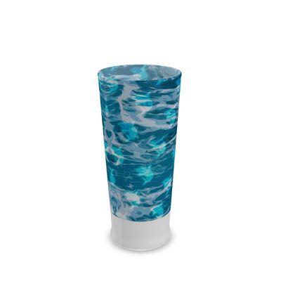 Half Pint Glass - Shark Ocean Abstract