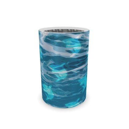 Wine Bottle Cooler - Shark Ocean Abstract