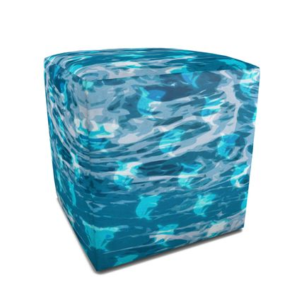 Square Pouffe - Shark Ocean Abstract