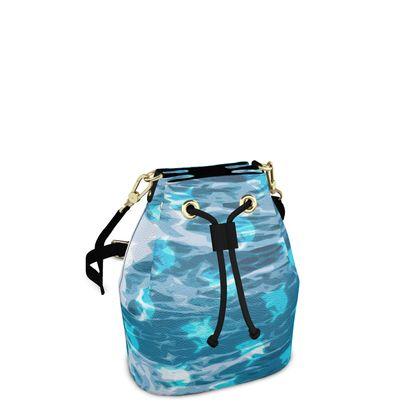 Bucket Bag - Shark Ocean Abstract