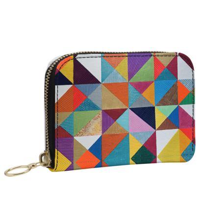 Leather purse -Joy time.