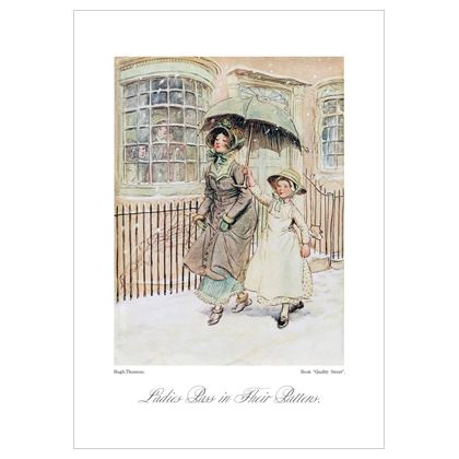 Lady on the Street, from Quality Street book - A3 print
