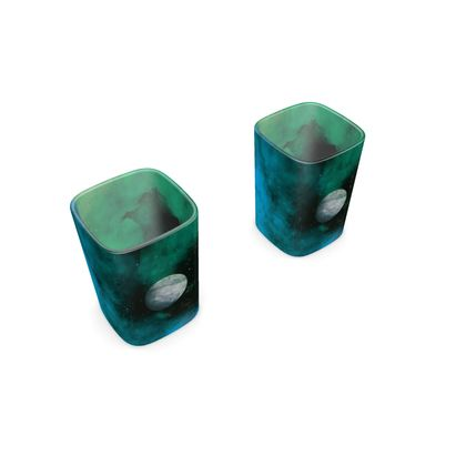 Square Shot Glass 2 Set - Lonely Planet