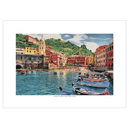 Vernazza on Italian Riviera - A1 Poster