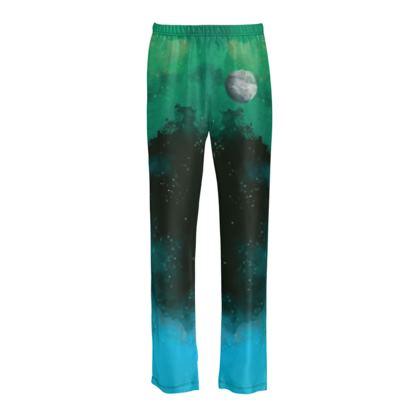 Ladies Silk Pyjama Bottoms - Lonely Planet