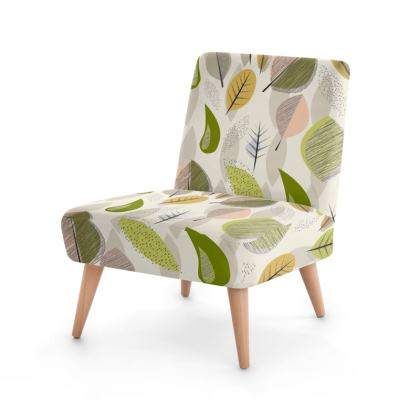 Fallng Leaves Mid Century Modern Occasional Chair