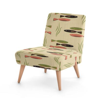 Fish Mid Century Modern Occasional Chair