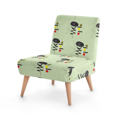 Boomerang Rose Mid Century Modern Occasional Chair