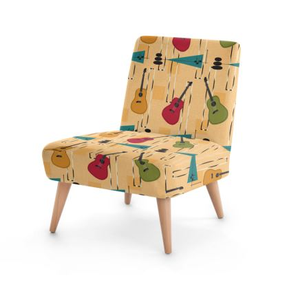 Guitar Mid Centry Modern Occasional Chair