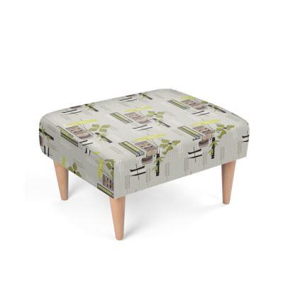 Kon-Tike Mid Century Modern Footstool