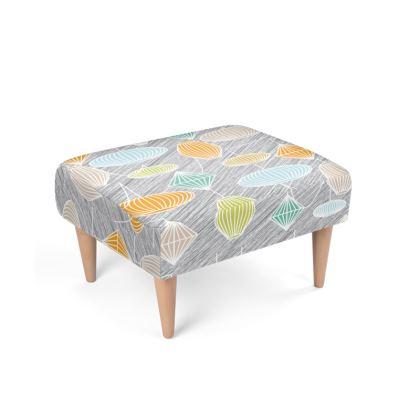Lampshades Mid Century Modern Footstool