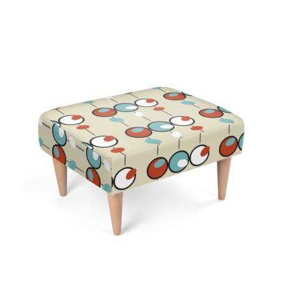 Olivion Mid Century Design Footstool