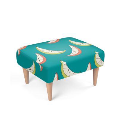 Citrus Mid Century Footstool