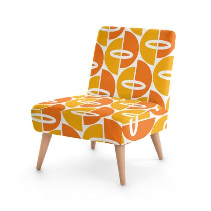 Orange /Gold Mid Century Modern Occasional Chair