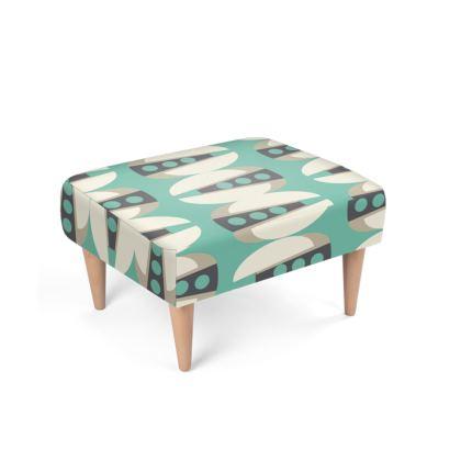 Tab Mid Century Modern Footstool