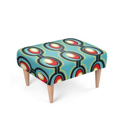 Toyash Mid Century Modern Footstool