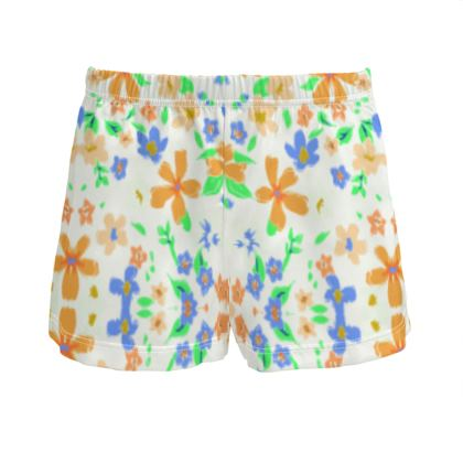 Ladies Summer Silk Pyjama Shorts