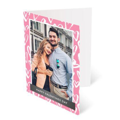 Pink Love Frame Valentines Card