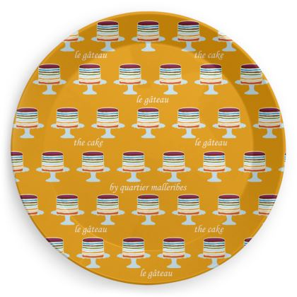"""Party Plate """"Le Gâteau"""" (Yellow)"""