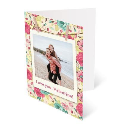 Floral Polaroid Valentine Cards