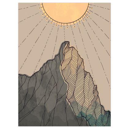 The great grey peak poster print