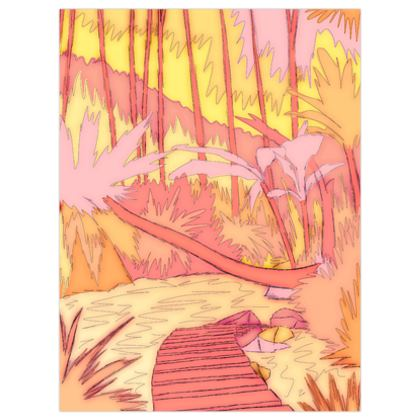 The path round the lake poster print