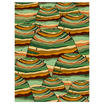 The green pattern hills poster print