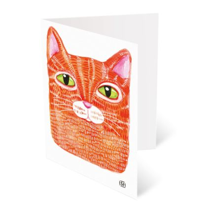Watercolor illustrated Cats - A6 Greetings card Packs