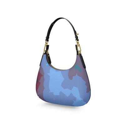 Mini Curve Bag - Abstract Colours