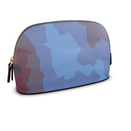 Large Premium Nappa Make Up Bag - Abstract Colours