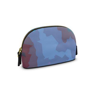 Small Premium Nappa Make Up Bag - Abstract Colours