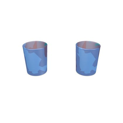 Round Shot Glass 2 Set - Abstract Colours