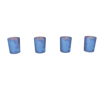 Round Shot Glass 4 Set - Abstract Colours