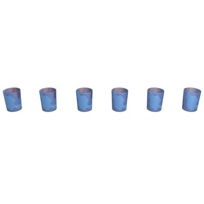 Round Shot Glass 6 Set - Abstract Colours
