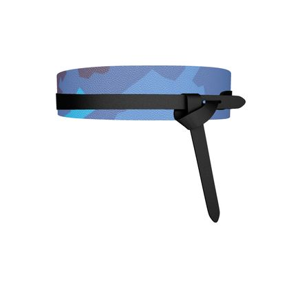 Leather Wrap Belt - Abstract Colours