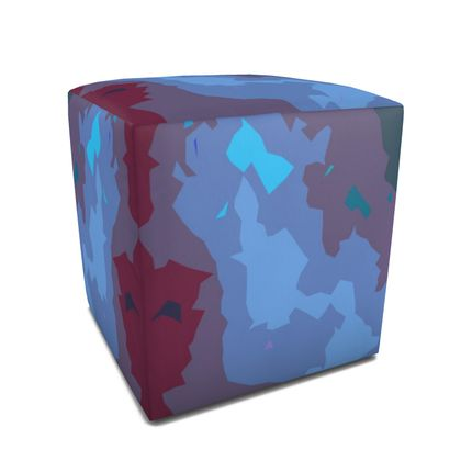 Square Pouffe - Abstract Colours