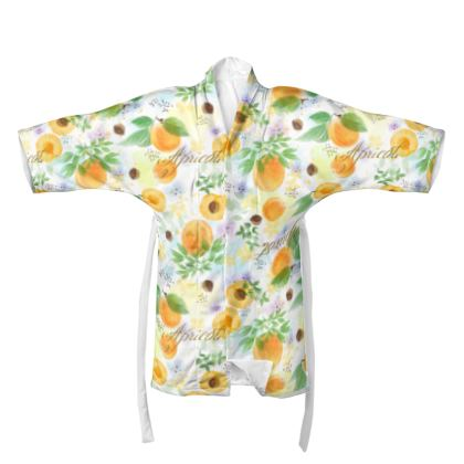 Little sun - Kimono - fruit design, apricots, sunny, orchard, yellow, bright, natural food, garden, hand-drawn floral, summer gift - design by Tiana Lofd