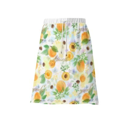 Little sun - Skirt - fruit design, apricots, sunny, orchard, yellow, bright, natural food, garden, hand-drawn floral, summer gift - design by Tiana Lofd