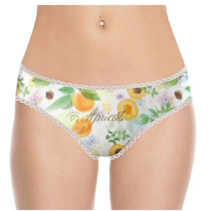 Little sun - Knickers - fruit design, apricots, sunny, orchard, yellow, bright, natural food, garden, hand-drawn floral, summer gift - design by Tiana Lofd