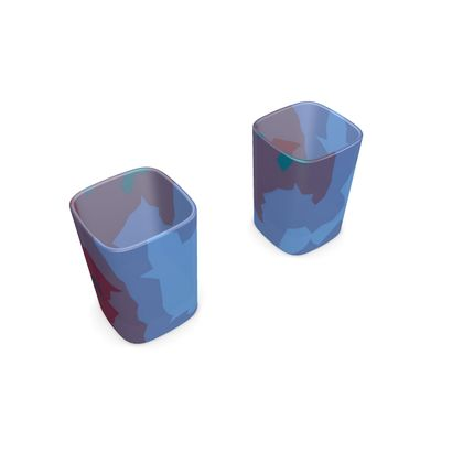 Square Shot Glass 2 Set - Abstract Colours
