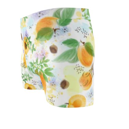 Little sun - Cut & Sew Boxer Briefs - fruit design, apricots, sunny, orchard, yellow, bright, natural food, garden, hand-drawn floral, summer gift - design by Tiana Lofd