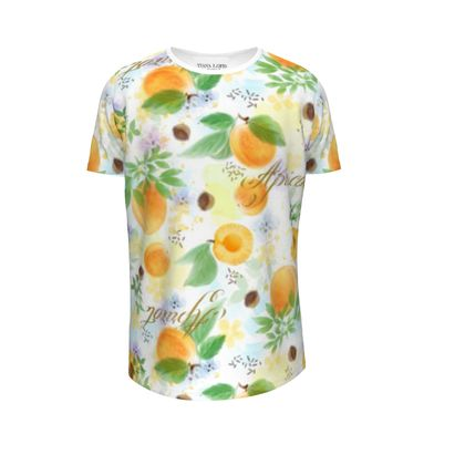 Little sun - Girls Premium T-Shirt - fruit design, apricots, sunny, orchard, yellow, bright, natural food, garden, hand-drawn floral, summer gift - design by Tiana Lofd