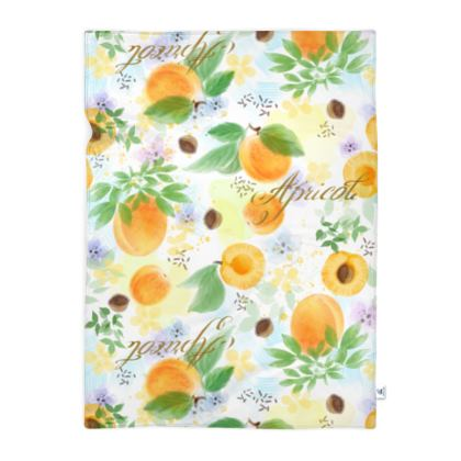 Little sun - Blanket - fruit design, apricots, sunny, orchard, yellow, bright, natural food, garden, hand-drawn floral, summer gift - design by Tiana Lofd