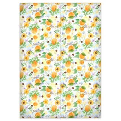 Little sun - Duvet Covers - fruit design, apricots, sunny, orchard, yellow, bright, natural food, garden, hand-drawn floral, summer gift - design by Tiana Lofd
