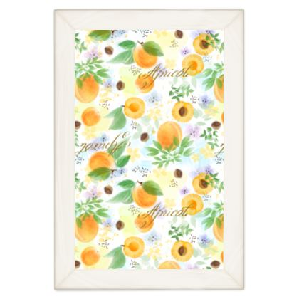 Little sun - Quilts - fruit design, apricots, sunny, orchard, yellow, bright, natural food, garden, hand-drawn floral, summer gift - design by Tiana Lofd