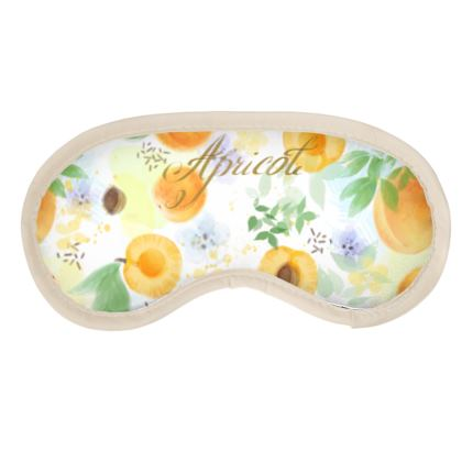 Little sun - Eye Mask - fruit design, apricots, sunny, orchard, yellow, bright, natural food, garden, hand-drawn floral, summer gift - design by Tiana Lofd