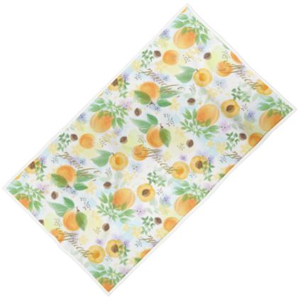 Little sun - Towels - fruit design, apricots, sunny, orchard, yellow, bright, natural food, garden, hand-drawn floral, summer gift - design by Tiana Lofd